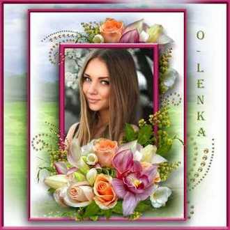 Free Flower Photo Frame for photoshop download - Beautiful Flowers