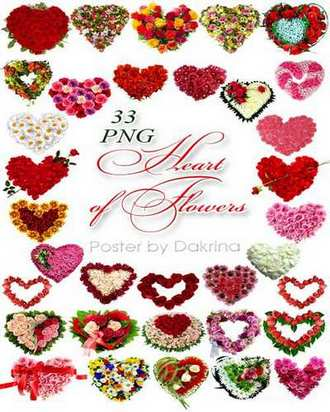 flower hearts png