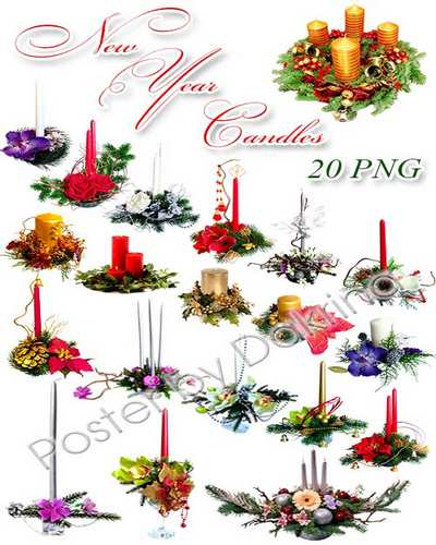 Christmas and New Year Candles PNG ( free 32 png images download )