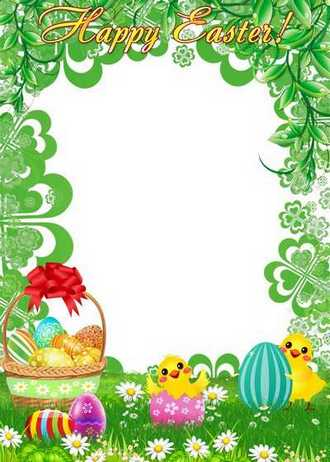 Easter Photo Frame template download