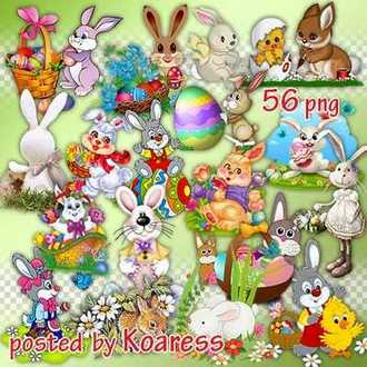 Easter rabbits png - Easter clipart Png for design download ( free 56 PNG images )