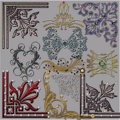 Decorative Clipart png download - Decorative Ornaments 20 free png images