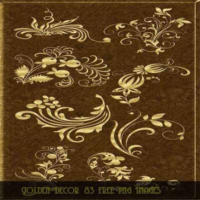 Decorative Clipart download - Golden decor 83 free png images