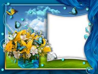 Flower Frame collage for Photoshop download