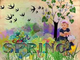 Spring psd ( free Layered psd download )
