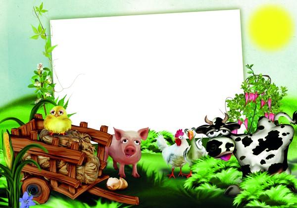 PSD frame - Funny farm. Transparent PNG Frame, Layered PSD Photo ...
