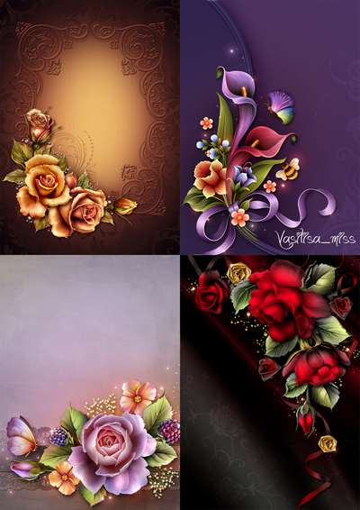 Bright floral backgrounds