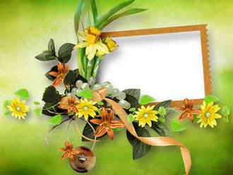 Flower scrap-page png + psd