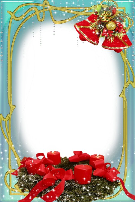 Frame for Photoshop - Christmas candles shine