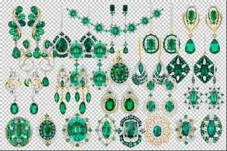 Emerald jewelry psd ( transparent background )