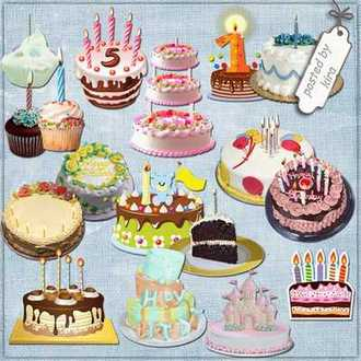 Birthday cakes png - free 90 Festive cakes for birthday on a transparent background