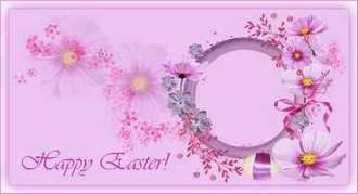 Easter photo frame psd greeting card - Happy Easter!