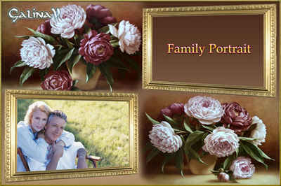Frame for 2 photos - Family Portrait