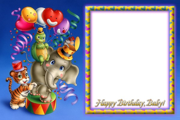 Photoframe for Girls - Happy Birthday! ( free photo frame png, free ...