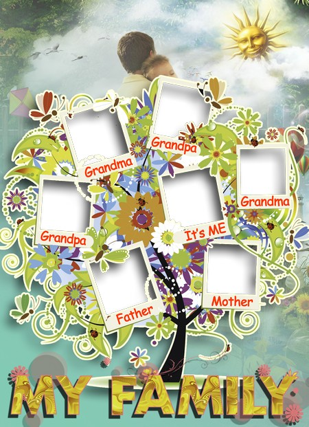My Family Tree Photo Frame Png Download Transparent Png Frame