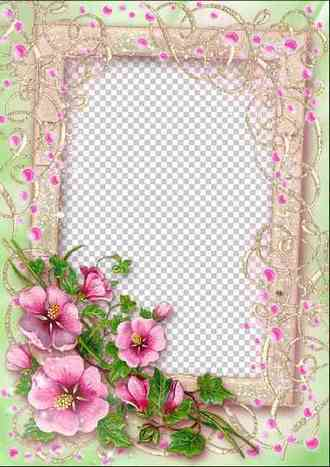 Frame for photoshop - Pink dreams ( free photo frame png + psd free download )