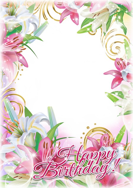Greeting photo frame - Happy Birthday! ( free Birthday frame ...