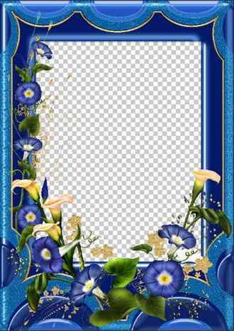 Beautiful flower photo frame download ( free photo frame psd + png download )