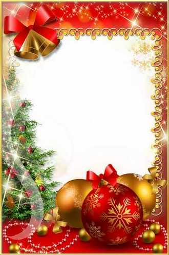 Christmas Photoframe - Long-awaited Holiday ( free Christmas photo frame psd + png download )