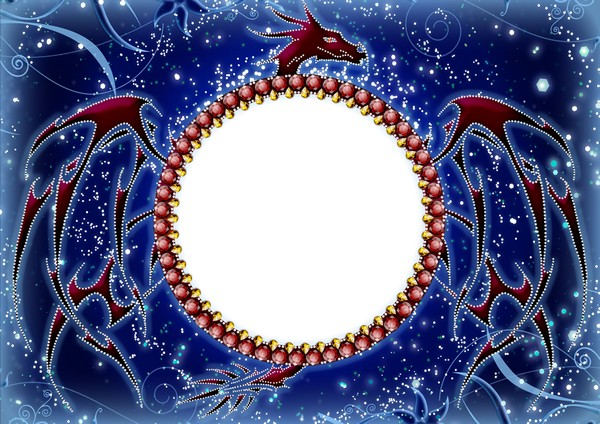 Frame for photoshop - Year of a dragon. Transparent PNG Frame, PSD ...