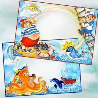Frame children - Maritime Tale ( frame png, photoshop frame, download )