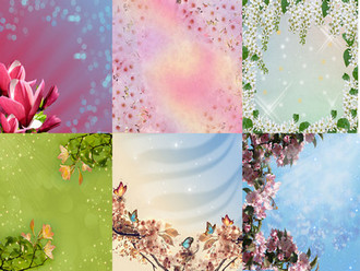 Spring Backgrounds psd