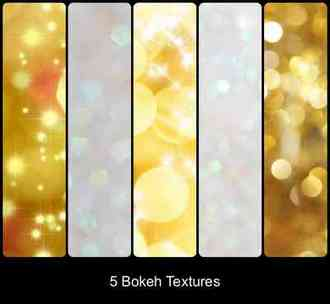 5 collections of high-quality textures ( 50 Bokeh Textures & Glitter Textures )