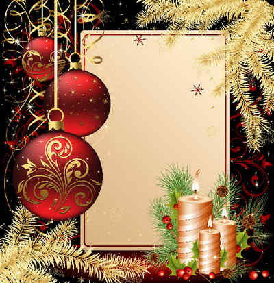 Frame for photoshop-happiness and good luck in the christmas