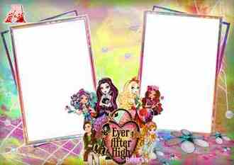 Photoshop Frame for girls – Ever After High ( free photo frame png psd download )