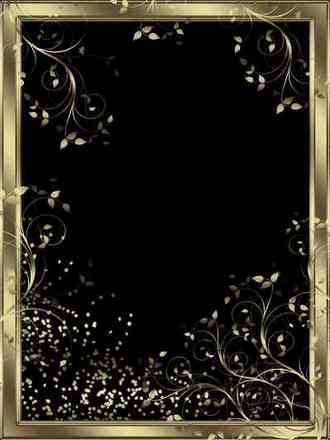 Gold photo frame template ( free Gold frame png psd download )