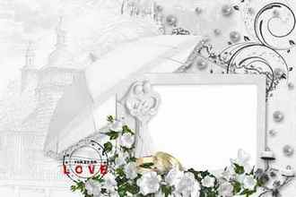 Wedding Frame for Photoshop - Tender Love