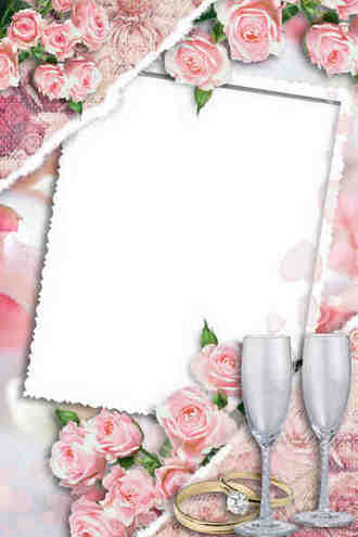 Frame for wedding photos - Bride and flower
