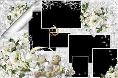 Wedding PSD frame-collage - With the day of the wedding
