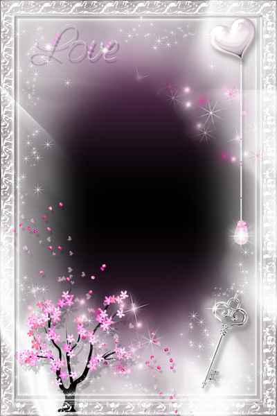 Romantic Frame psd png - Love and Passion