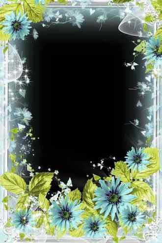 Flower frame for photo - Spring mood