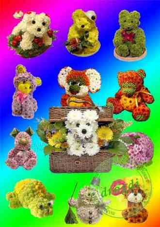 Animals from flowers png images