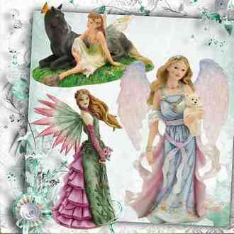 Angels figurines png and elves figurines png ( 54 png with transparent background download )