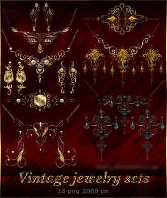 Vintage jewelry clipart png ( free 13 png download )
