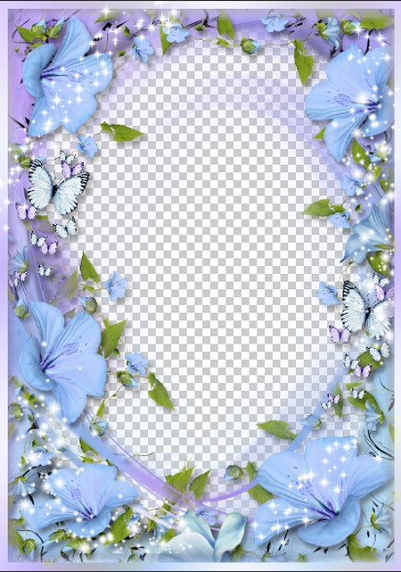 frame for photo nice flowers photo frame png