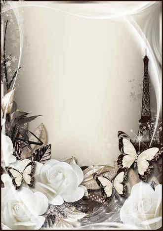 Romantic photo frame - My tender flower ( photo frame png & psd download )