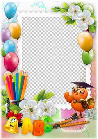 Free school photo frame template ( photo frame png & psd download )
