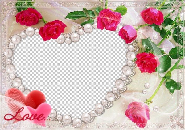 Love Frame for photo – roses ( photo frame png download frame heart ...