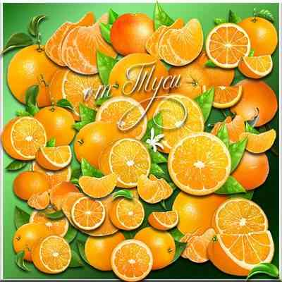 Oranges Clipart with transparent background ( free PSD download )