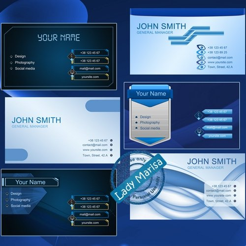 Free business cards psd templates 12 psd download psd file free business cards 12 psd templates blue style with geometric decor cheaphphosting Choice Image