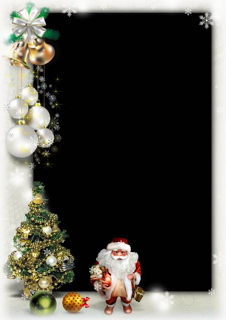 Christmas Frame for Photoshop - Oh, what a good, good Santa Claus ...