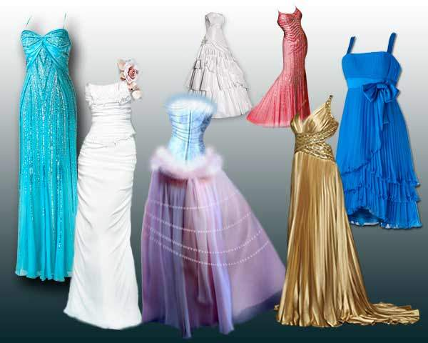 Collection evening dresses psd and wedding dresses psd