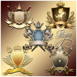 Medieval heraldic coat of arms psd png download