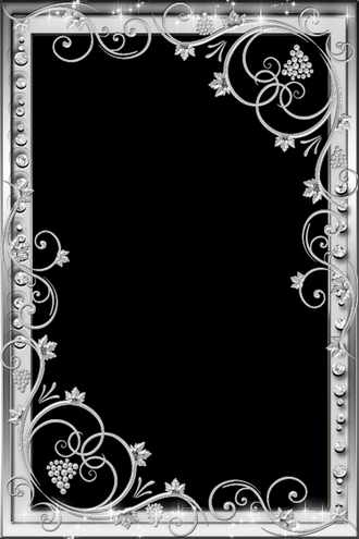 Frame for photo - Silver luxury ( frame template psd png download )