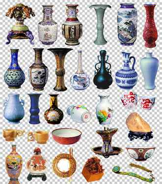 Vases and jugs ( psd layered, 30 png, transparent, download )