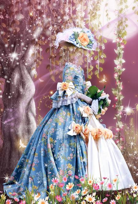 Girl child psd costume for photo montage - The Loved fairy tales